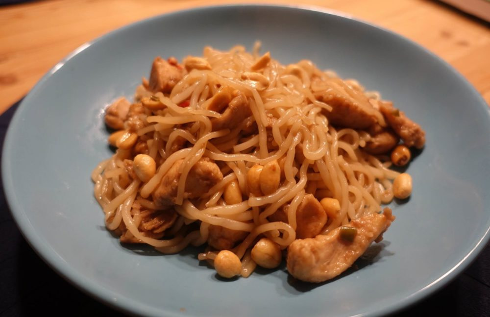 5 Kalorien Alginat Nudeln mit Wok Gericht Rezept